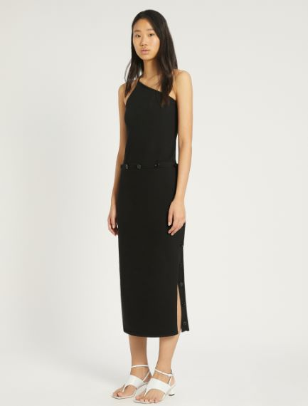 Cotton and nylon knit dress