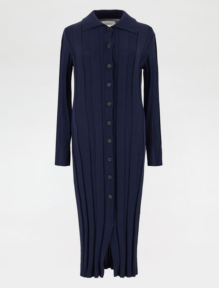 Stretch knit shirt dress