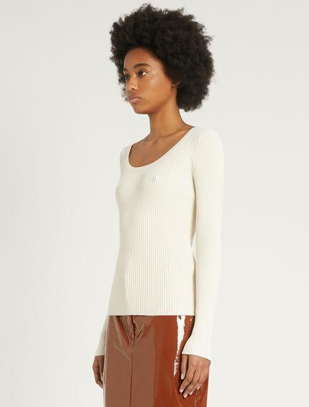 Slim-fit rib-knit sweater