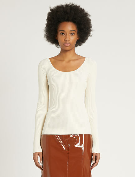 Slim-fit rib-knit sweater Sportmax