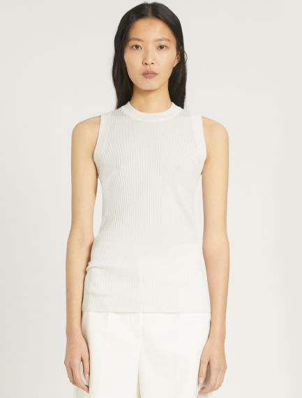 Fine-rib cotton vest top Sportmax