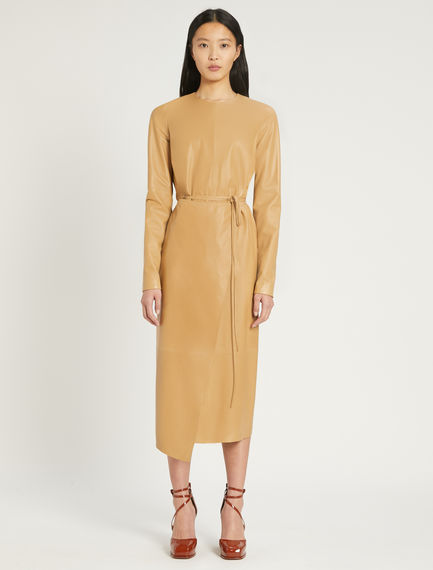 Nappa leather wrap dress Sportmax