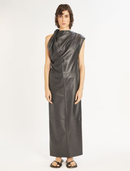 Sleeveless Nappa leather dress Sportmax