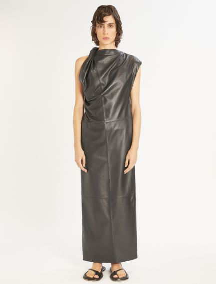 Sleeveless Nappa leather dress