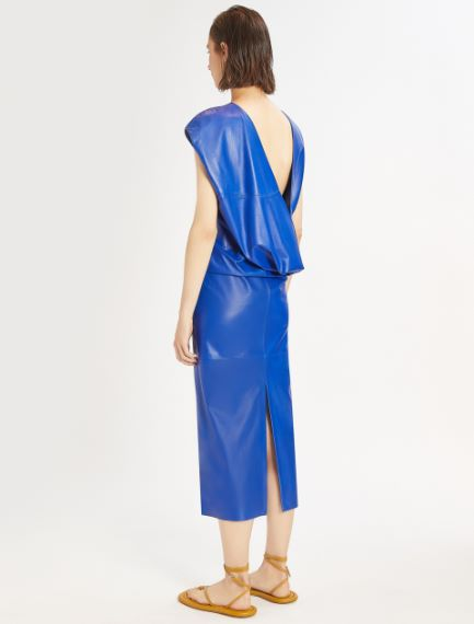 Backless-look Nappa leather dress Sportmax