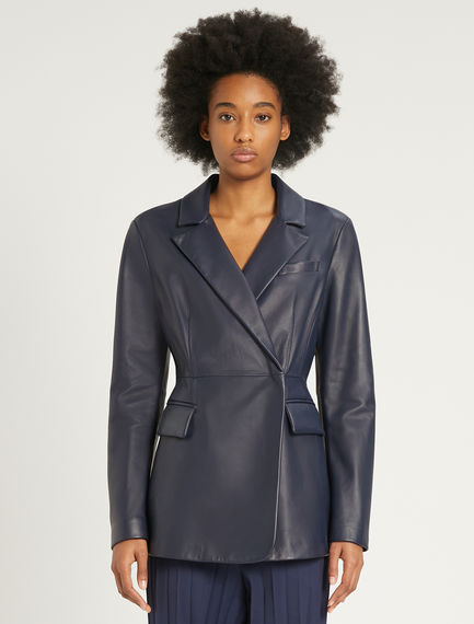 Nappa leather blazer Sportmax