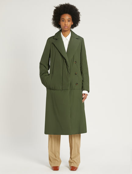 Water-resistant padded trench coat