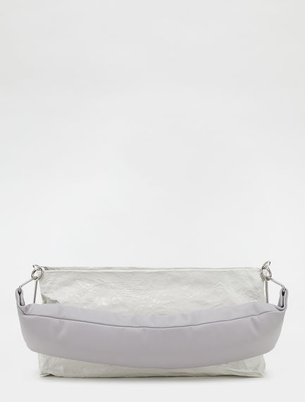 Small metallic clutch bag