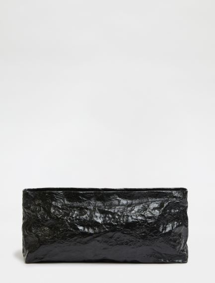 Small metallic clutch bag