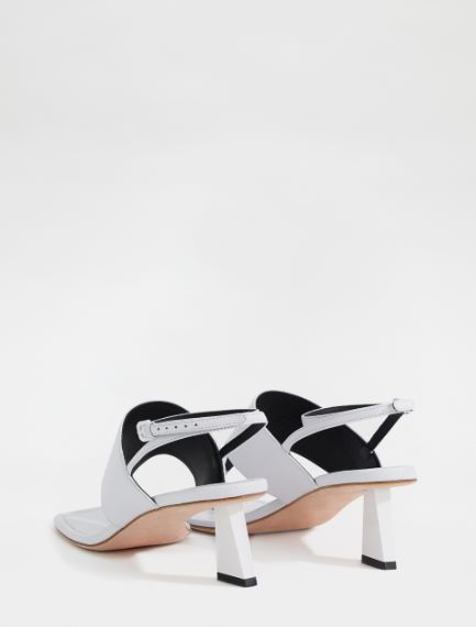 Shiny nappa leather sandals