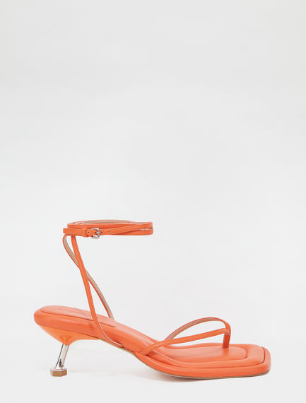Transparent insert-embellished toe-post sandals Sportmax