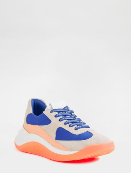 Leather and nylon sneakers Sportmax
