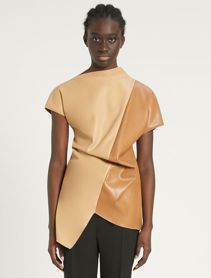 Asymmetric colourblock top Sportmax