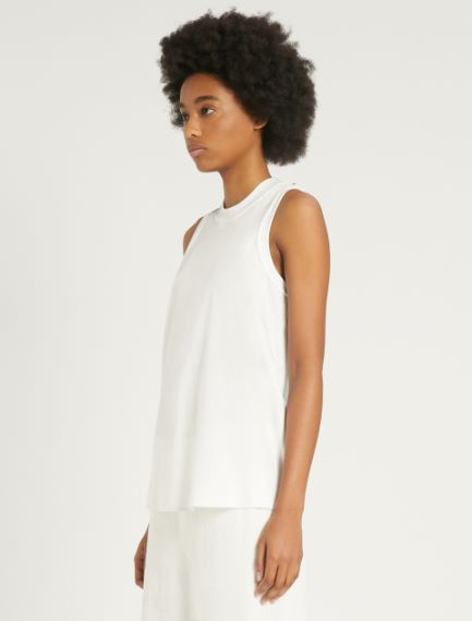 Cotton and modal interlock top