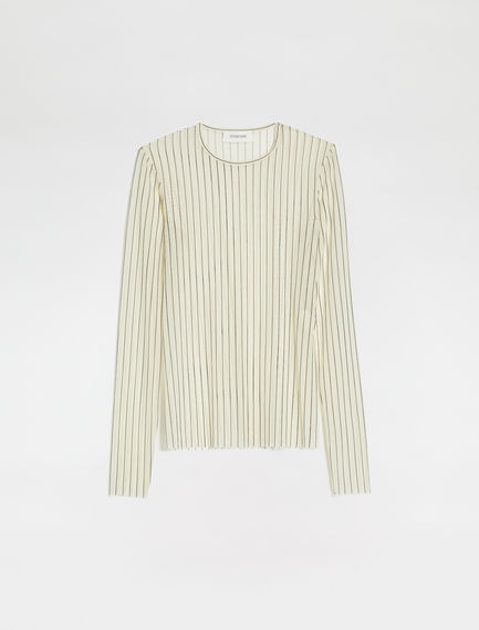 Double-print tulle sweater
