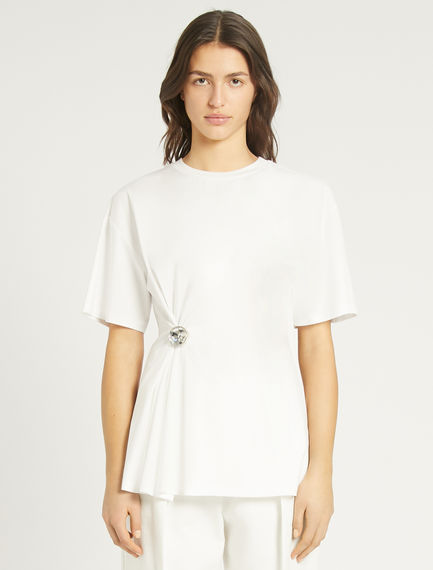 Bejewelled-button T-shirt Sportmax