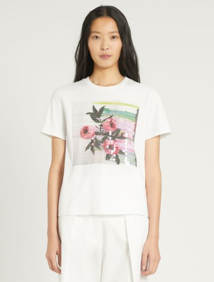 Cotton jersey T-shirt Sportmax