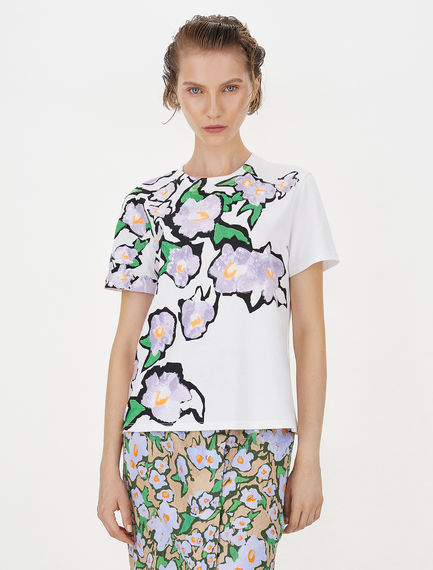 Embroidery and sequin-embellished T-shirt Sportmax