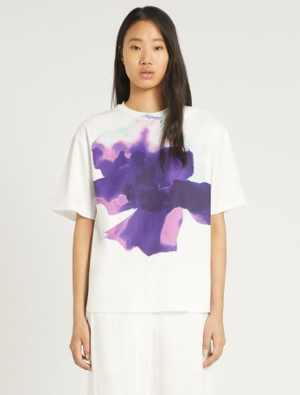 Cotton and modal jersey T-shirt Sportmax