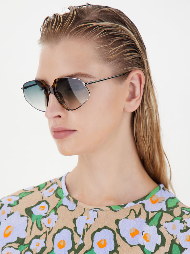 Acetate and metal glasses Sportmax