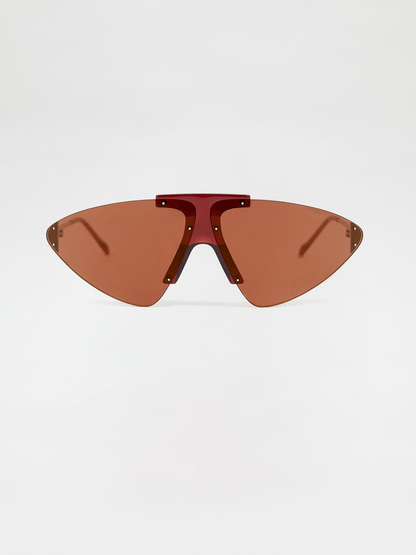 Triangle-lens glasses