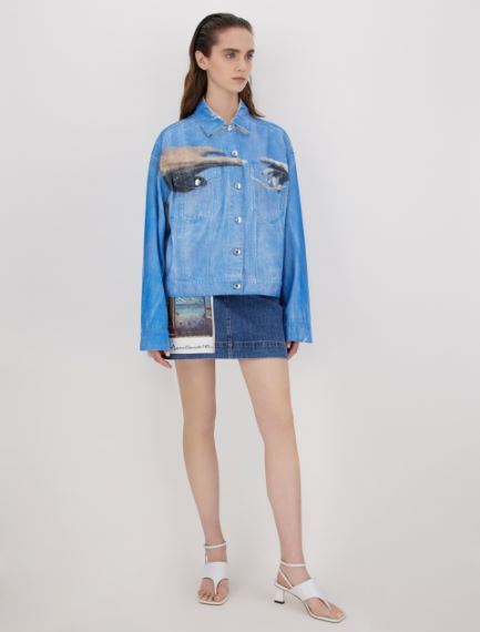 Cotton bull denim jacket Sportmax