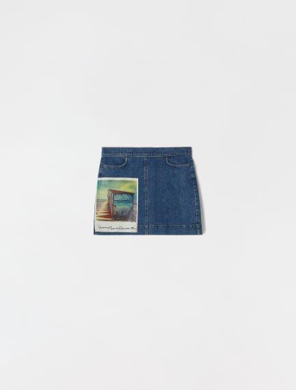 Cotton denim skirt Sportmax