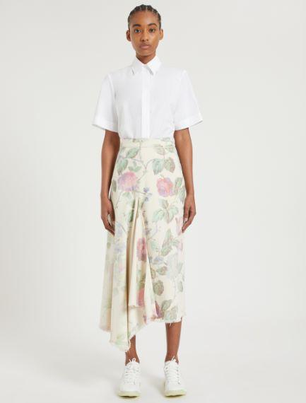 Maxi rose asymmetrical skirt
