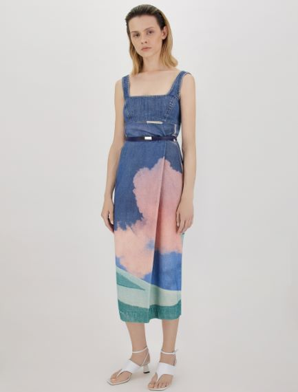 Cotton bull denim skirt Sportmax