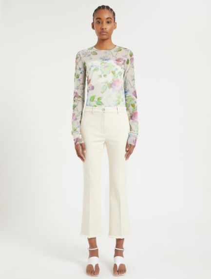 Fringed cotton trousers Sportmax