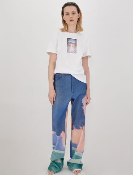 Cotton bull denim trousers