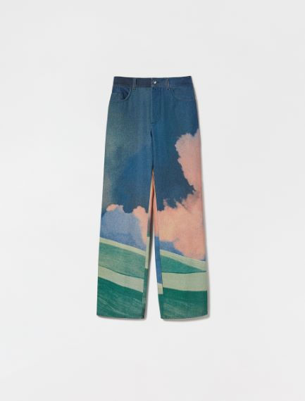 Cotton bull denim trousers Sportmax