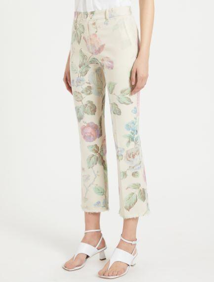 Rose-print trousers