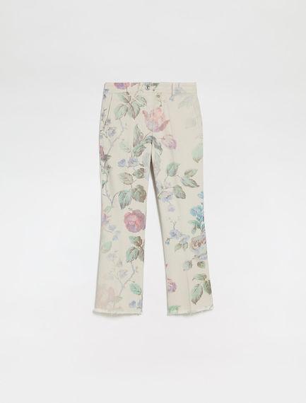 Pantalone con stampa rose Sportmax