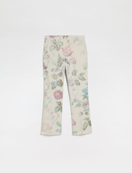 Rose-print trousers Sportmax