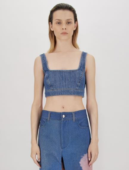 Stretch denim top