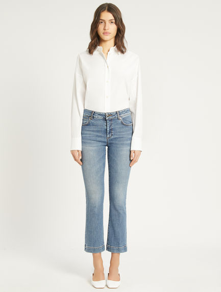 Flared 5-pocket jeans