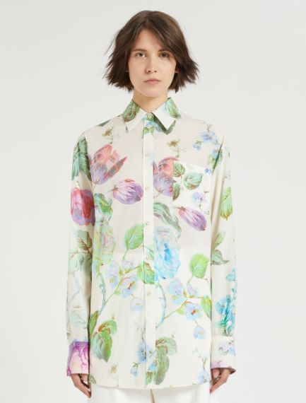 Oversized rose-print shirt Sportmax