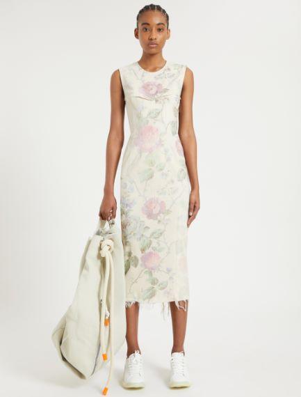 Maxi rose sleeveless dress