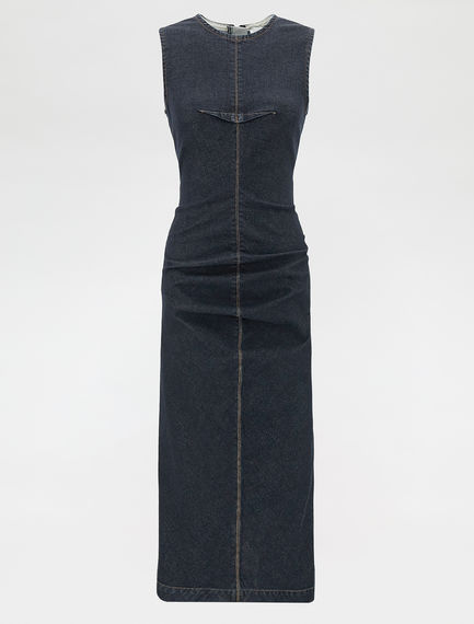 Stretch denim sheath dress