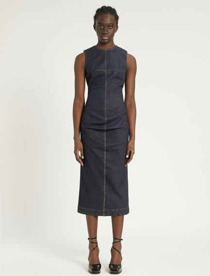 Stretch denim sheath dress Sportmax