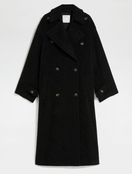 Oversized lambskin-look wool coat Sportmax