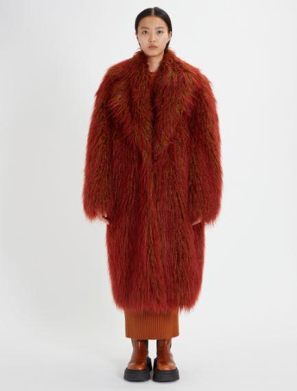 Single-breasted, long-pile coat Sportmax