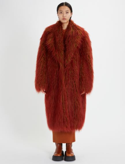 Nuanced Mongolian fur-look jacket Sportmax