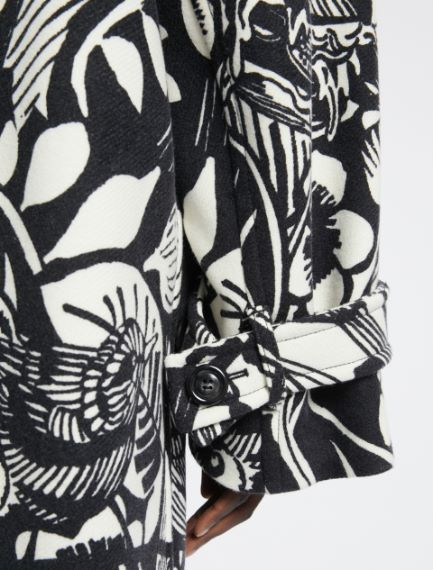 Floral-patterned oversized wool coat Sportmax