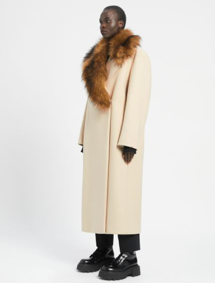 Removable-collar coat