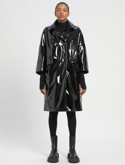 Coated fabric coat