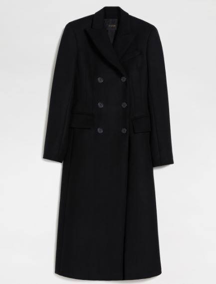 Tailored wool and cashmere coat