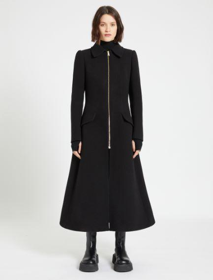 Zipped frock coat