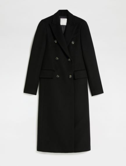 Padded double-breasted coat